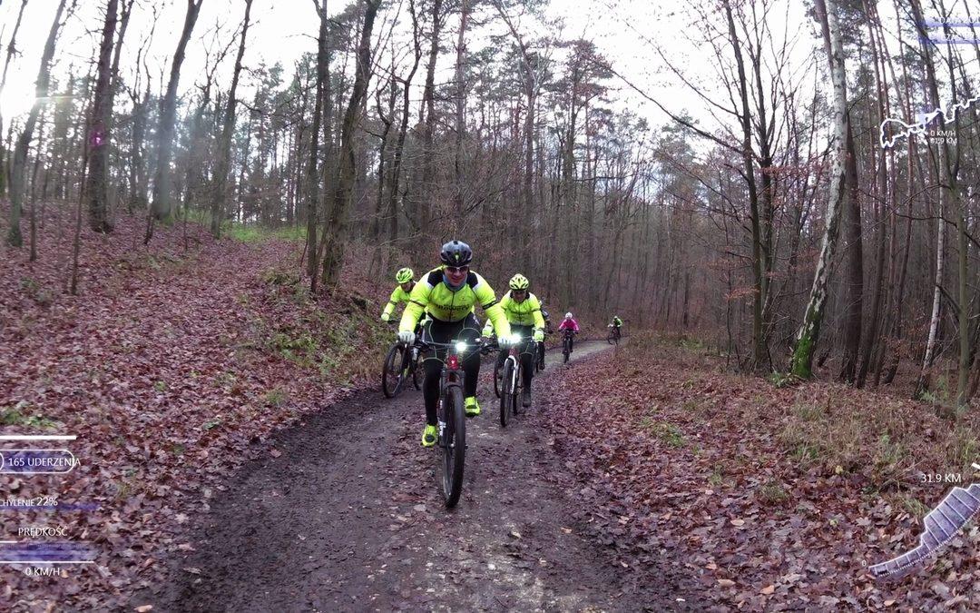 Niedzielny trening MTB w lasach k. Bogdańca